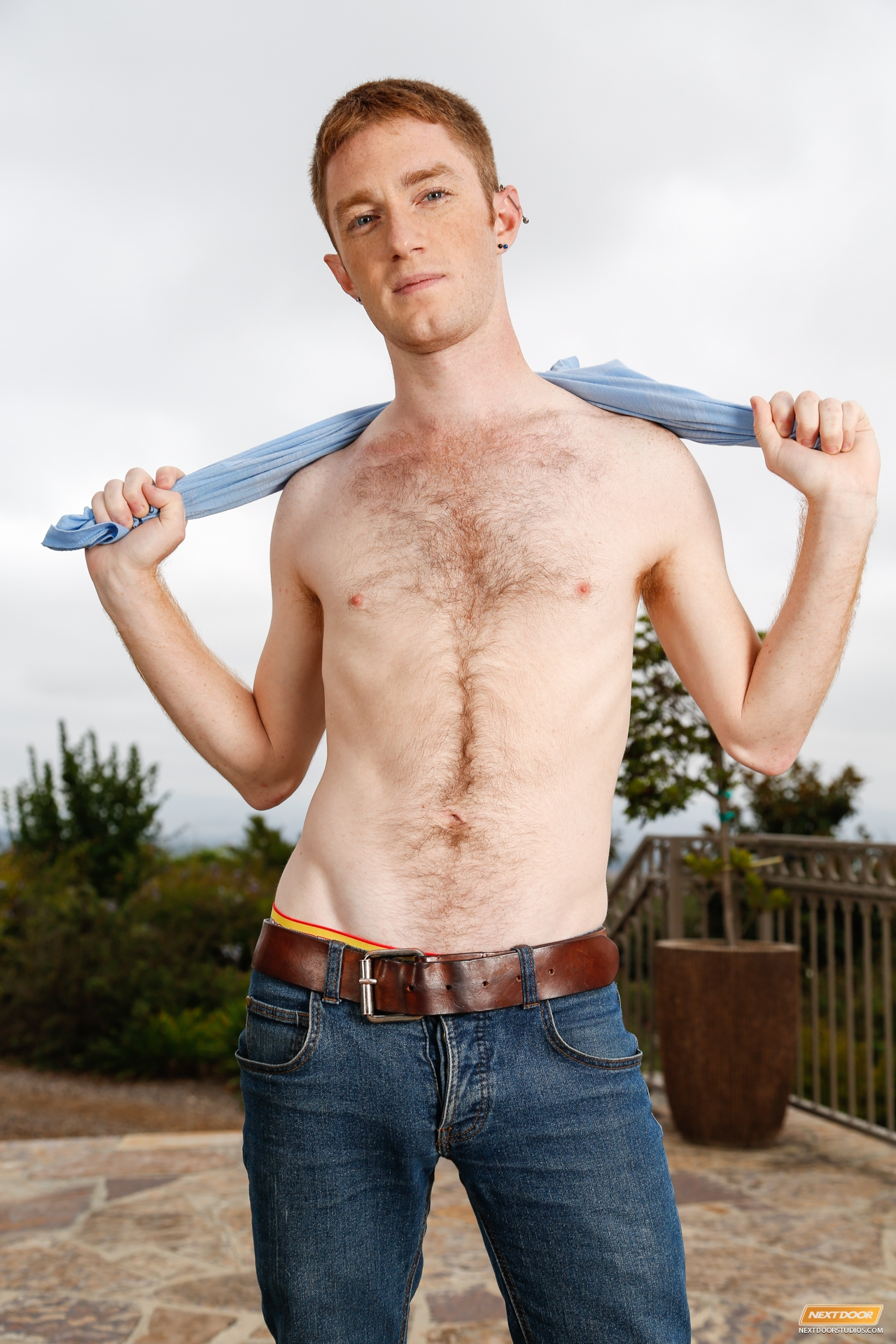 Actor Porno Gay Red seamus oreilly shows off his fuzzy young ginger body in a