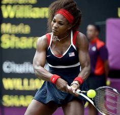 Serena Williams Of The U Muscles A Backhand Against Maria Sharapova Of Russia Williams Won