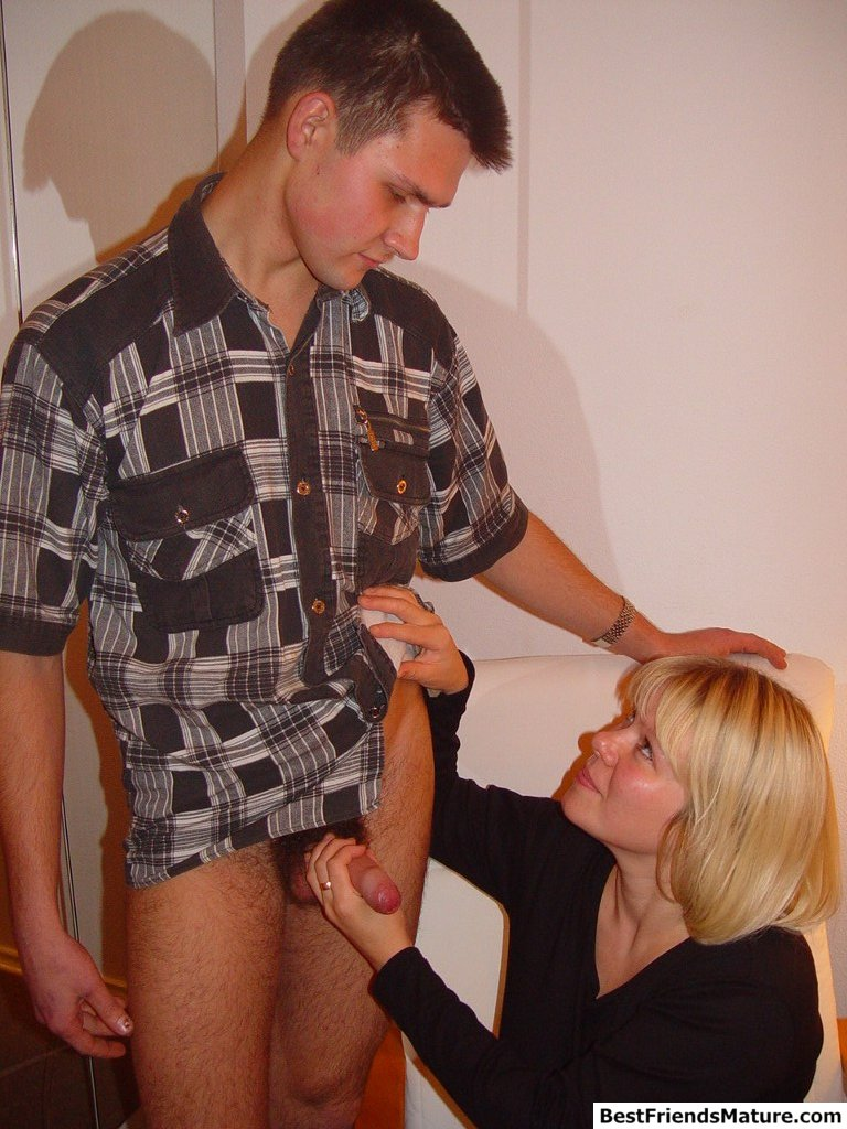 3 Matures And Boy Porn skinny boy has sex with big breasted mature blonde mom of
