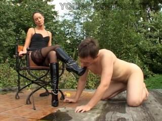 Slave Worship High Heel Boots Russian Mistress