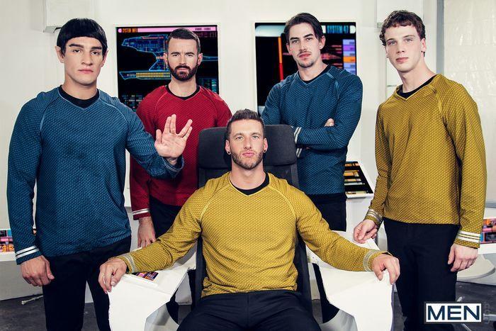 Star Trek Gay Porn Parody Orgy Kirk Spock Chekov Scotty Mccoy Group Sex 5