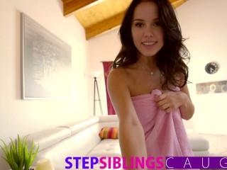 Step Sister Caught And Deepthroats Cock 5