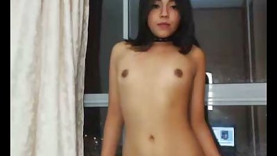Teen With Tiny Tits Dancing Nude