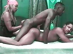 Vintage Black Bisexual Scene Bisexual Threesome